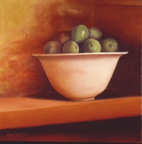 "<h5>Apples on Gold</h5><p>30"" x 30""</p>"