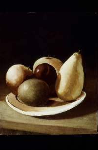 "<h5>Fruit on Plate</h5><p>18"" x 14""</p>"