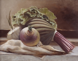 "<h5>Eggplant with Onion</h5><p>11"" x 14""</p>"