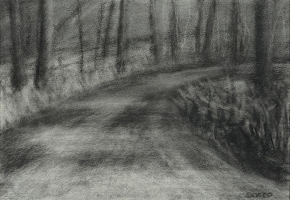 "<h5>Nancy's Road</h5><p>13"" x 9""</p>"