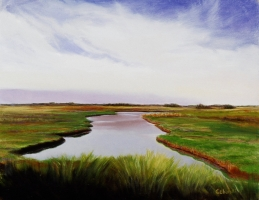 "<h5>Morning Marsh</h5><p>30"" x 24""</p>"