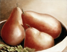 "<h5>Three Pears</h5><p>11"" x 11""</p>"